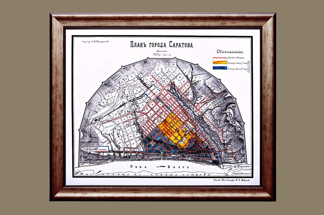 Подарок деловому человеку - старинная карта