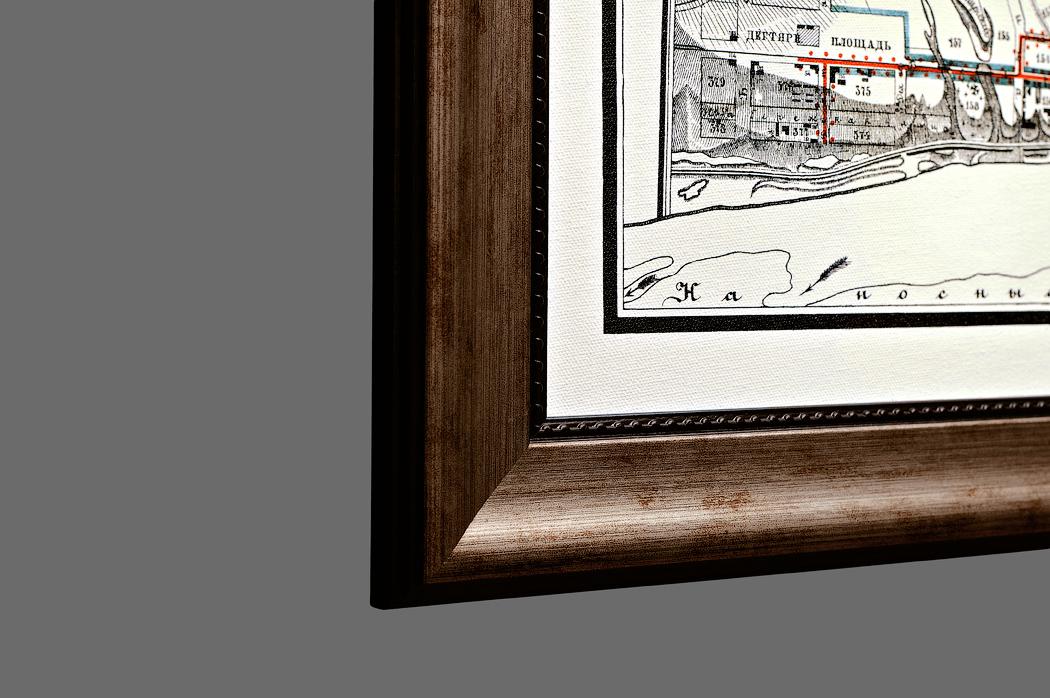 Старинная карта Саратова в подарок