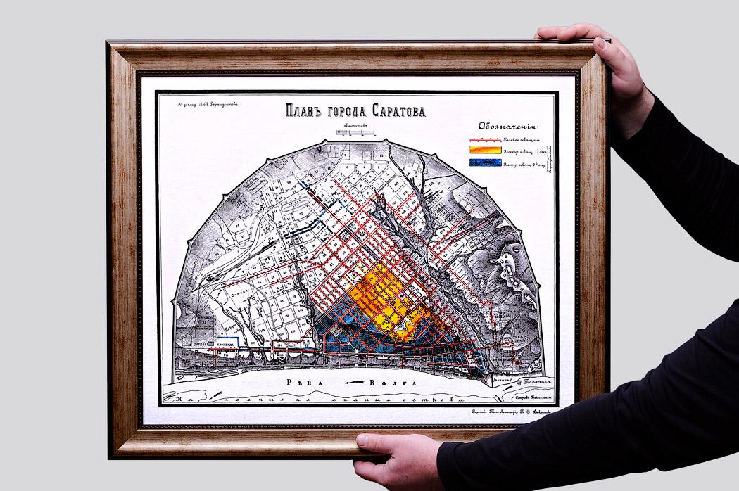 План города Саратова, 1904 года