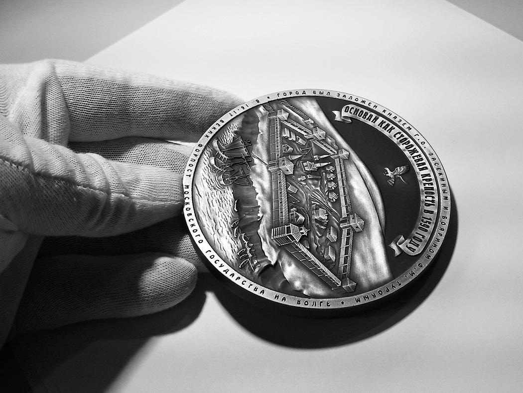 Медаль «Город Саратов» в футляре черный Бук (Фото 27)