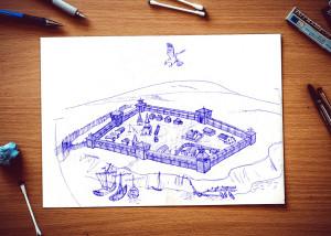 Макет крепости Саратов