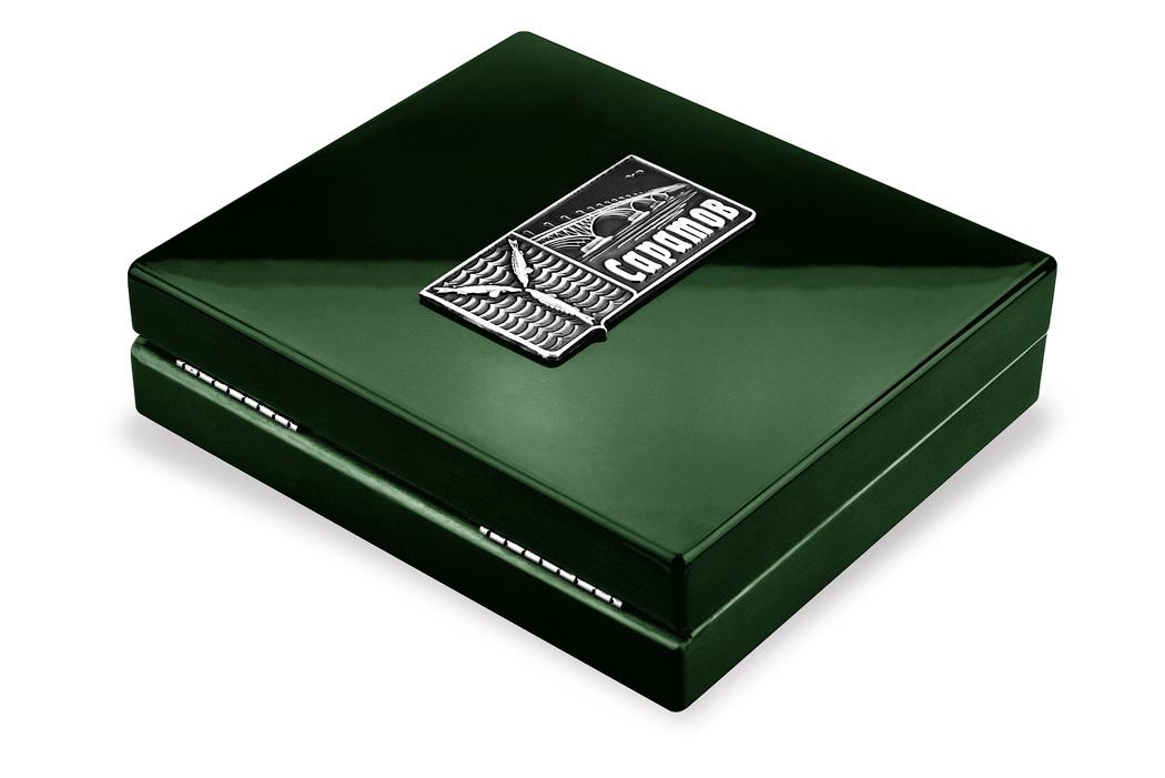 Медаль «Город Саратов» в футляре зеленый Бук (Фото 1)