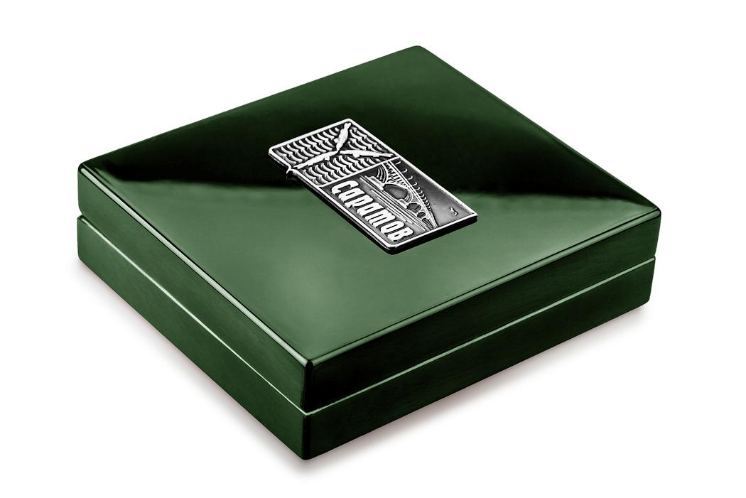 Медаль «Город Саратов» в футляре зеленый Бук (Фото 15)