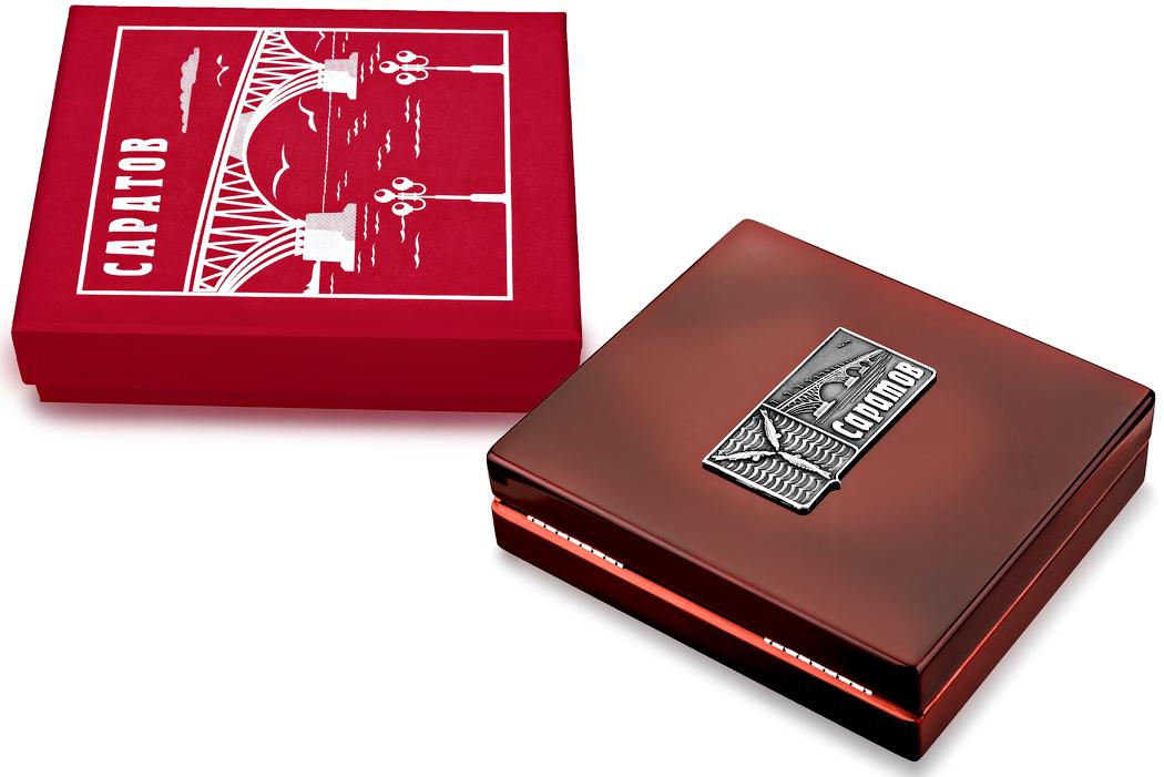 Медаль «Город Саратов» в футляре красный Бук (Фото 25)