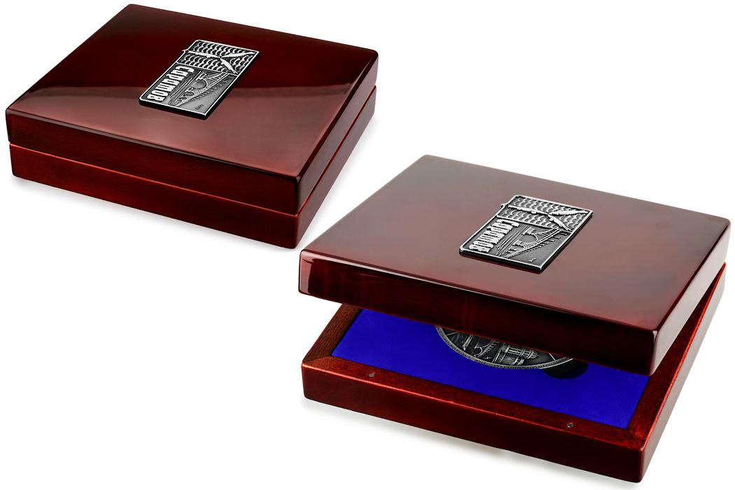 Медаль «Город Саратов» в футляре красный Бук (Фото 38)