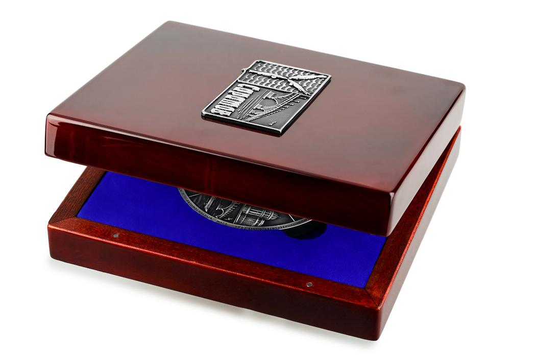 Медаль «Город Саратов» в футляре красный Бук (Фото 4)