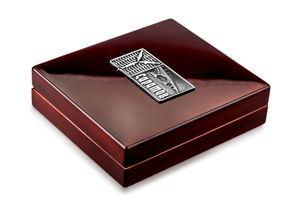 Медаль «Город Саратов» в футляре красный Бук (Фото 44)