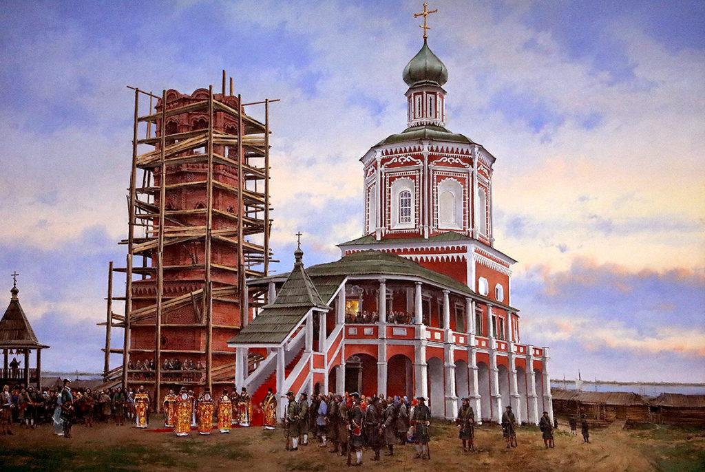 Петр Первый прибывает в Саратов